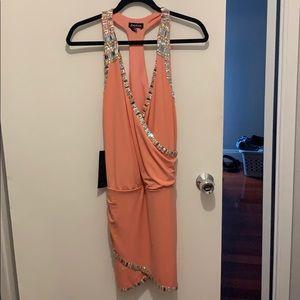 Bebe peach dress